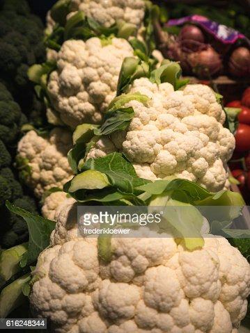 Delicious Cauliflower on a Market : Foto stock