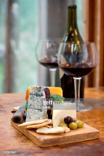 Delicioso queijo e Vinho
