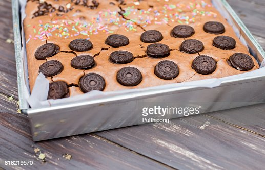 Delicious Chocolate Brownies : Stockfoto
