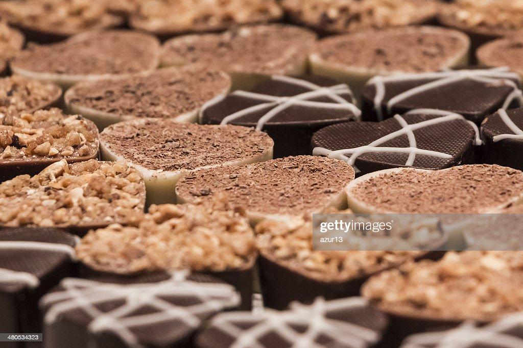 Delicious chocolate pralines : Stock Photo