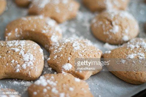 delicious fresh Christmas gingerbread : Stock Photo