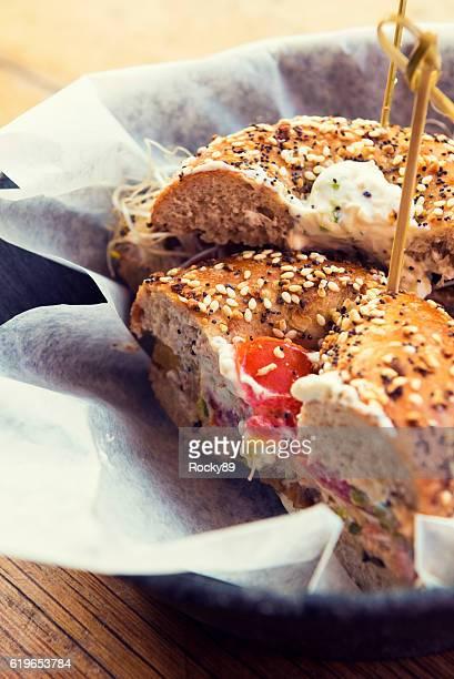 Delicious healthy bagel