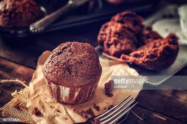 Köstliche hausgemachte Schokoladen-Muffins