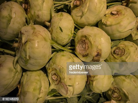 Delicious Kohlrabi on a Market : Foto de stock