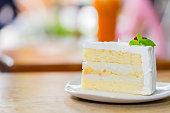 Delicious Natural Coconut cake,Selective focus