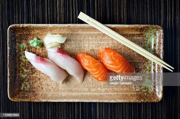 Delicious nigiri sushi