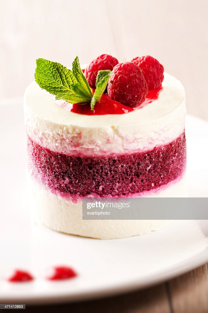 Delicious Panna Cotta With Berries Stock Photo | Getty Images