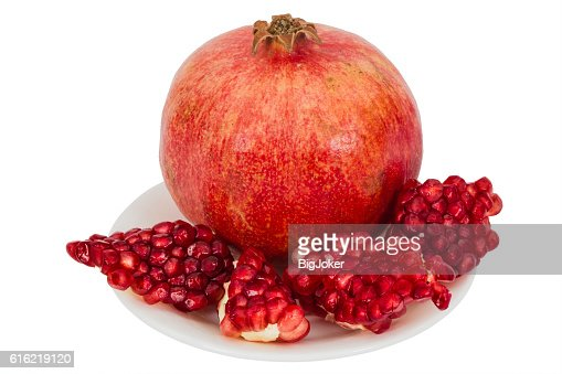 Delicious pomegranate fruit, isolated on white  background : Stock Photo