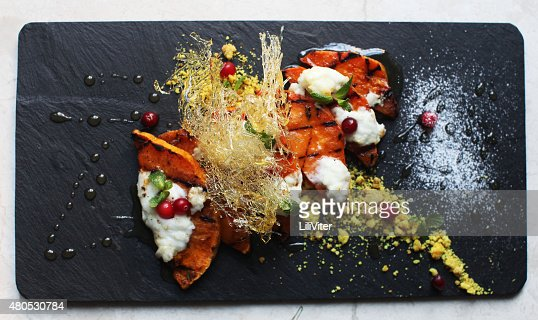 Delicious pumpkin slices : Stock Photo
