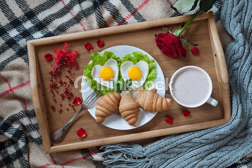 delicious romantic breakfast in bed surprise with. Black Bedroom Furniture Sets. Home Design Ideas