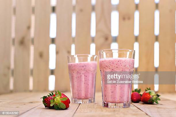 Delicious strawberry and chia smoothie