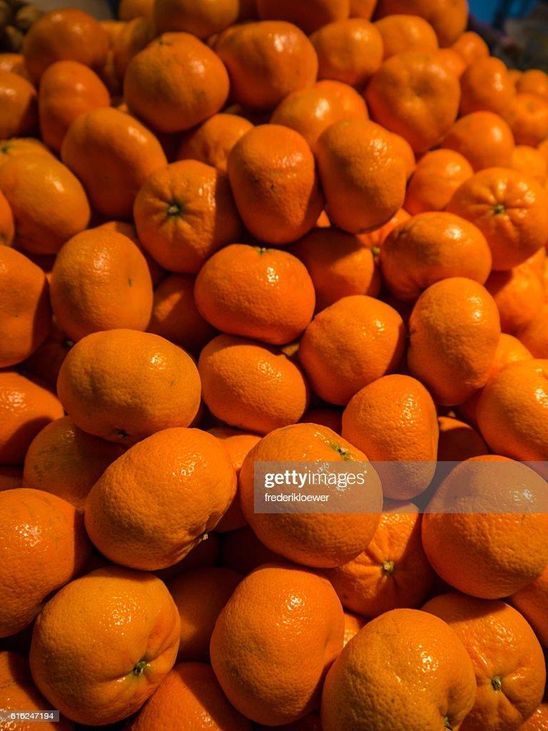 Delicious Tangerines on a Market : Foto de stock