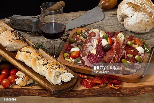 Deliciosos platos argentinos antipasto gourmet típicas