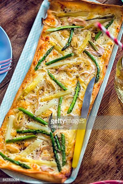 Delicious Vegetarian Asparagus Tart