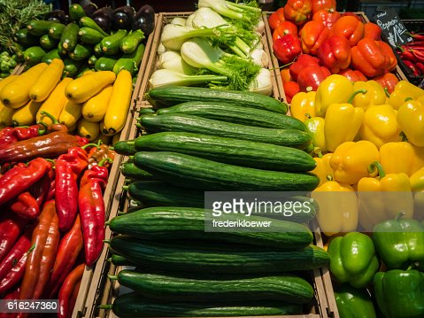 Delicious Vetegables on a Market : Stock Photo