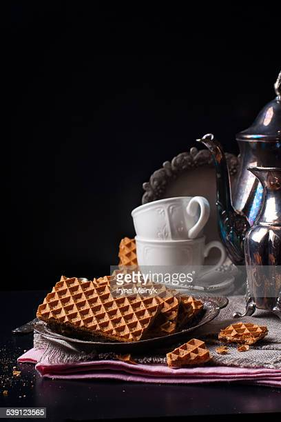Delicious waffles for tea