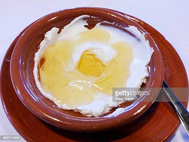 Delicious yogurt with honey