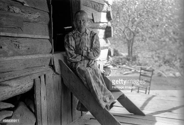 Delie Hughes Cave River Burnsville Yancey County North Carolina USA 19161918 Photograph taken during Cecil Sharp's folk music collecting expedition...