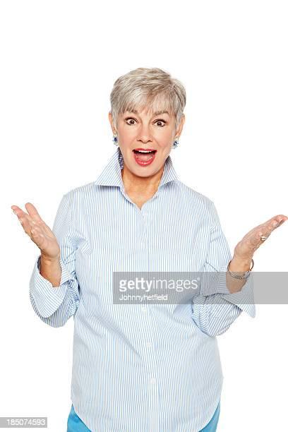 Encantado de mujer mayor