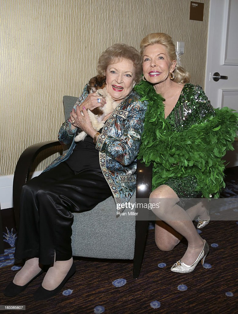 Delilah, actress <a gi-track='captionPersonalityLinkClicked' href=/galleries/search?phrase=Betty+White&family=editorial&specificpeople=213602 ng-click='$event.stopPropagation()'>Betty White</a> and Lois Pope pose during the American Humane Association Hero Dog Awards 2013 held at the Beverly Hilton Hotel on Saturday, Oct. 5, 2013, in Beverly Hills, California.