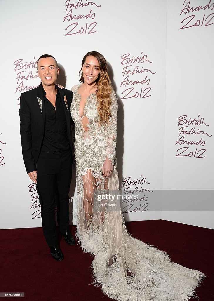 Delilah and Julien Macdonald attend the British Fashion Awards 2012 at The Savoy Hotel on November 27, 2012 in London, England.