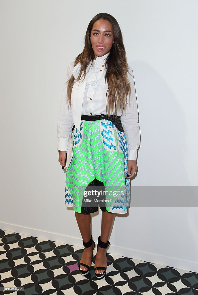 Delilah attends the Jean-Pierre Braganza show during London Fashion Week SS14 at BFC Courtyard Showspace on September 13, 2013 in London, England.>>