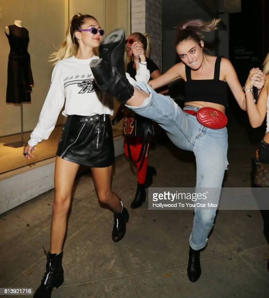 Delilah Belle Hamlin and Amelia Gray Hamlin are seen on July 12 2017 in Los Angeles CA
