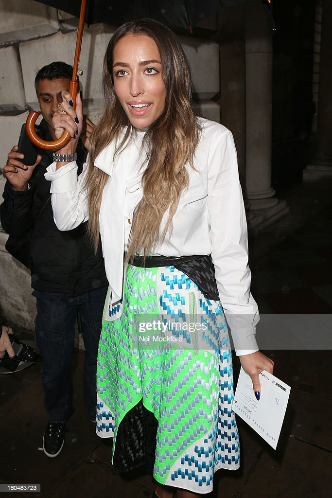 Delilah is sighted at Somerset House on September 13, 2013 in London, England.