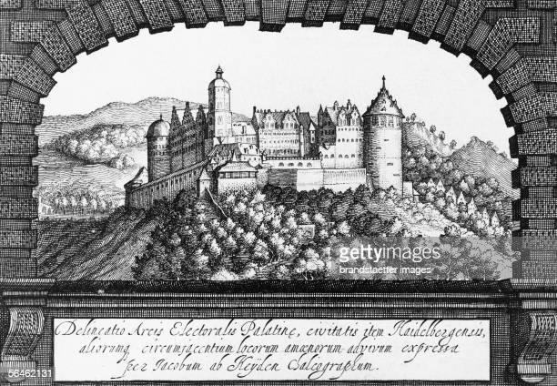 Delineatio Arcis Electoralis Palatine civitatis item HaidelbergensisEtching by Jacob van der Heyden About 1640 [Delineatio Arcis Electoralis Palatine...
