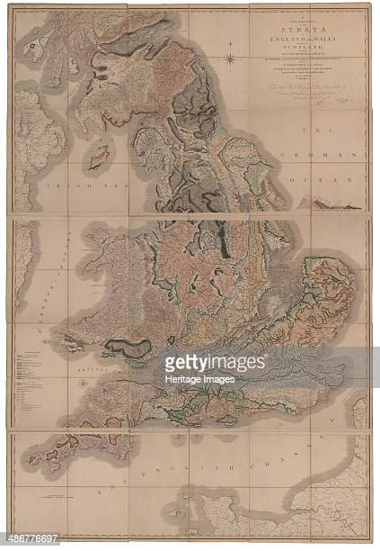 Delineation of the Strata of England and Wales with a Part of Scotland The first geological map of Artist Smith William
