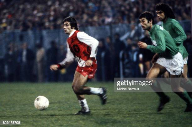 Delio Onnis during the Division 1 match between Saint Etienne and Monaco at Geoffroy Guichard Stadium Saint Etienne France on 5th September 1978