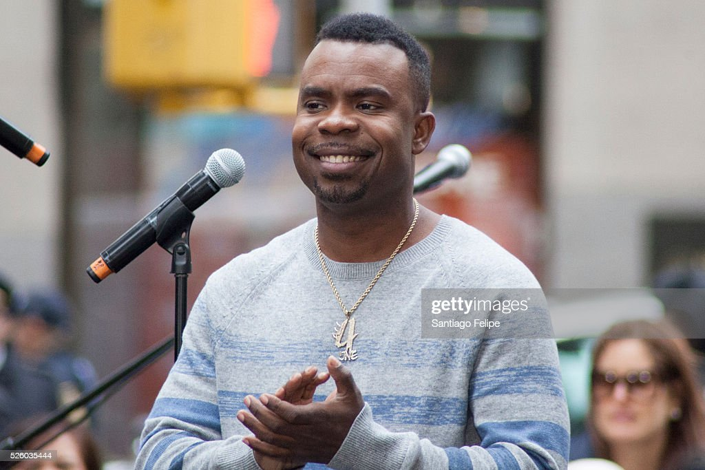 Delious Kennedy of All 4 One performs onstage during I Love The 90's Concert Tour Performs On NBC's 'Today' at Rockefeller Plaza on April 29, 2016 in New York City.