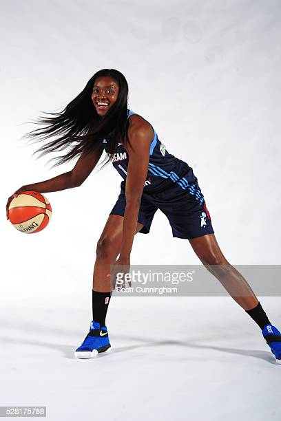 Delisha MiltonJones of the Atlanta Dream poses for a portrait during WNBA Media Day on May 2 2016 at the Riverside EpiCenter in Austell Georgia NOTE...