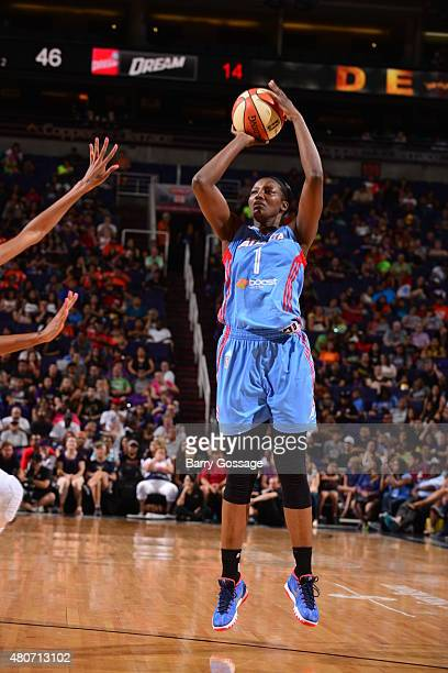 DeLisha MiltonJones of the Atlanta Dream shoots against the Phoenix Mercury on July 14 2015 at Talking Stick Resort Arena in Phoenix Arizona NOTE TO...