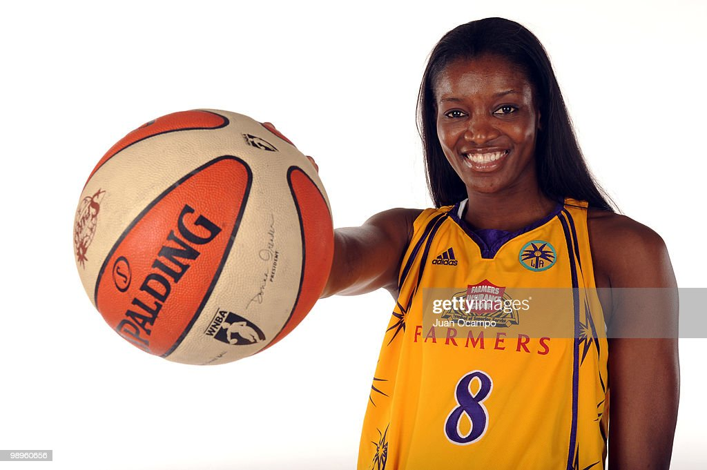 Delisha MiltonJones of the Los Angeles Sparks poses for a photo during WNBA Media Day at St Mary's Academy on May 10 2010 in Inglewood California...