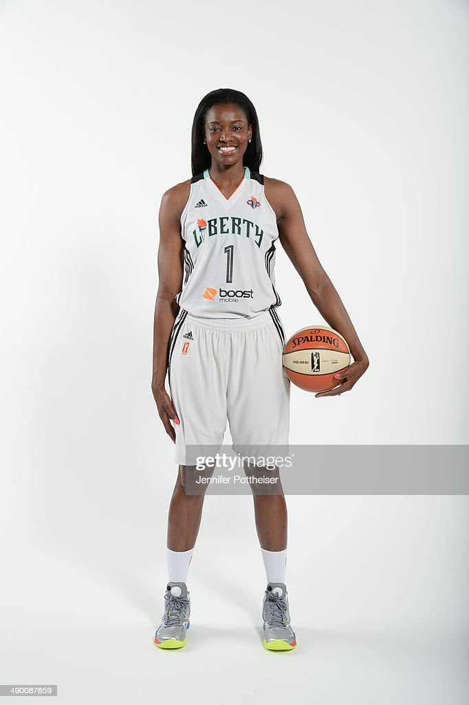 DeLisha Milton-Jones #1 of the New York Liberty poses for a portrait during 2014 WNBA Media Day at the MSG Training Facility on May 12, 2014 in Tarrytown, New York.