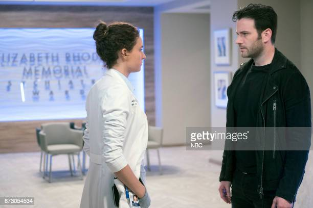 MED 'Deliver Us' Episode 221 Pictured Rachel DiPillo as Sarah Reese Colin Donnell as Connor Rhodes