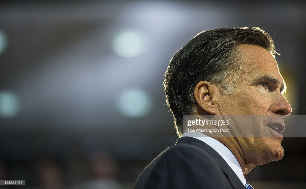 Delivering a foreign policy speech, Republican nominee for President Governor Mitt Romney stands before cadets at Virginia Military Institute, in Lexington, Virginia, on Monday, October, 8, 2012.