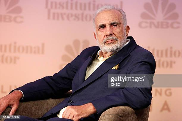 EVENTS Delivering Alpha 2014 Pictured CNBC's Scott Wapner interviews Carl Icahn Chairman Icahn Enterprises at the CNBC Institutional Investor...
