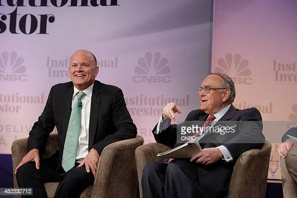 EVENTS Delivering Alpha 2014 Pictured Michael Novogratz Principal and Director Fortress Investment Group LLC and Leon G Cooperman Chairman Omega...