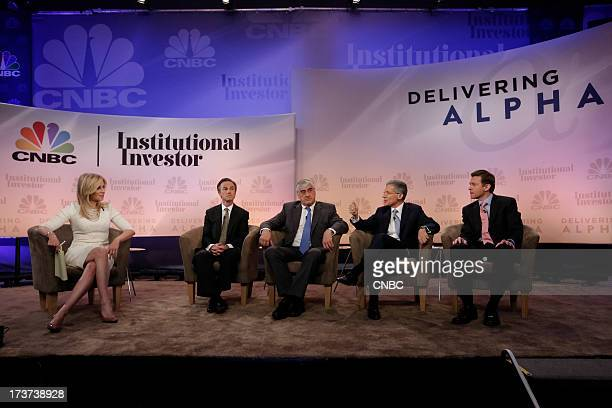 CNBC's Becky Quick moderates The Great Rotation panel with Gregory J Fleming President Morgan Stanley Wealth Management Michael Hintze Founder and...