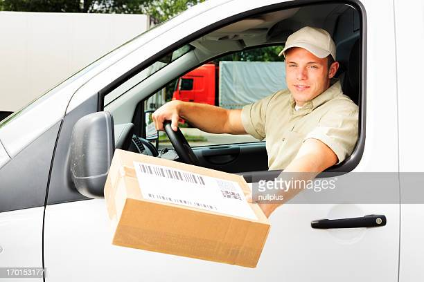 delivery boy handing you a parcel