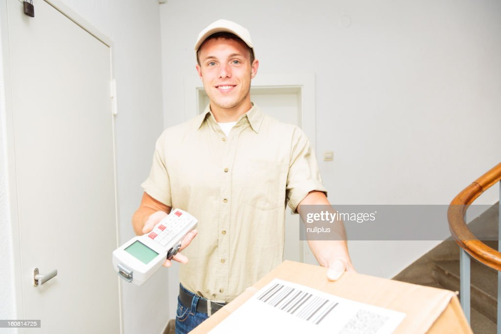delivery boy : Stock Photo