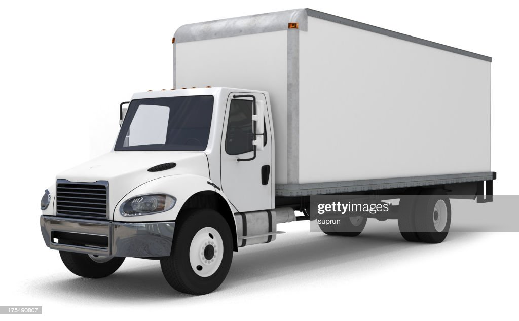 delivery truck stock photo getty images. Black Bedroom Furniture Sets. Home Design Ideas