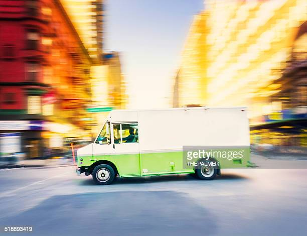 Delivery truck speeding