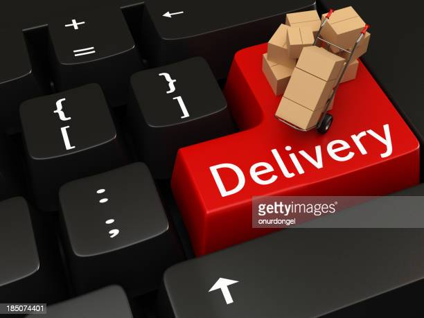Delivery writing on Keyboard