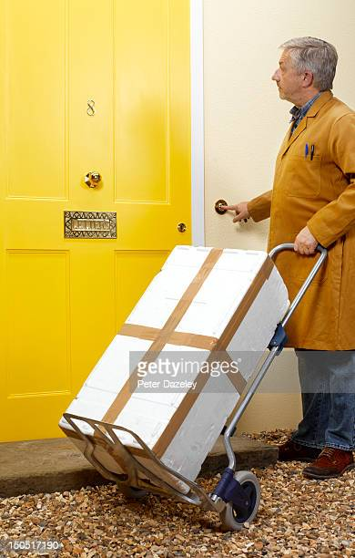Deliveryman making a home delivery