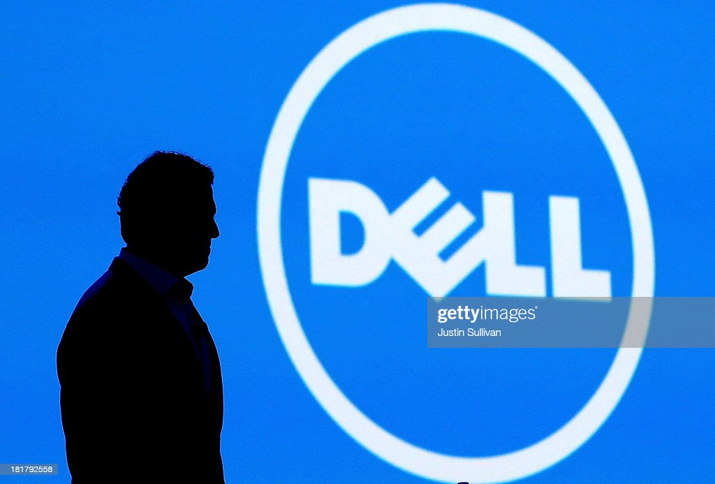 Dell CEO <a gi-track='captionPersonalityLinkClicked' href=/galleries/search?phrase=Michael+Dell&family=editorial&specificpeople=240605 ng-click='$event.stopPropagation()'>Michael Dell</a> delivers a keynote address during the 2013 Oracle Open World conference on September 25, 2013 in San Francisco, California. The week-long Oracle Open World conference runs through September 26.