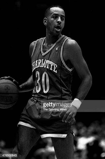 Dell Curry of the Charlotte Hornets circa 1991 in Charlotte North Carolina