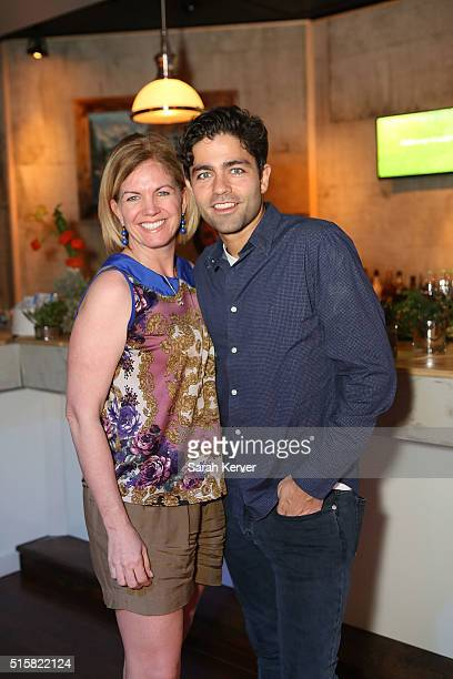 Dell executive Jennifer Davis and Adrian Grenier attend Social Good Celebration At The #DellLounge Featuring A Performance By THE SKINS Presented By...